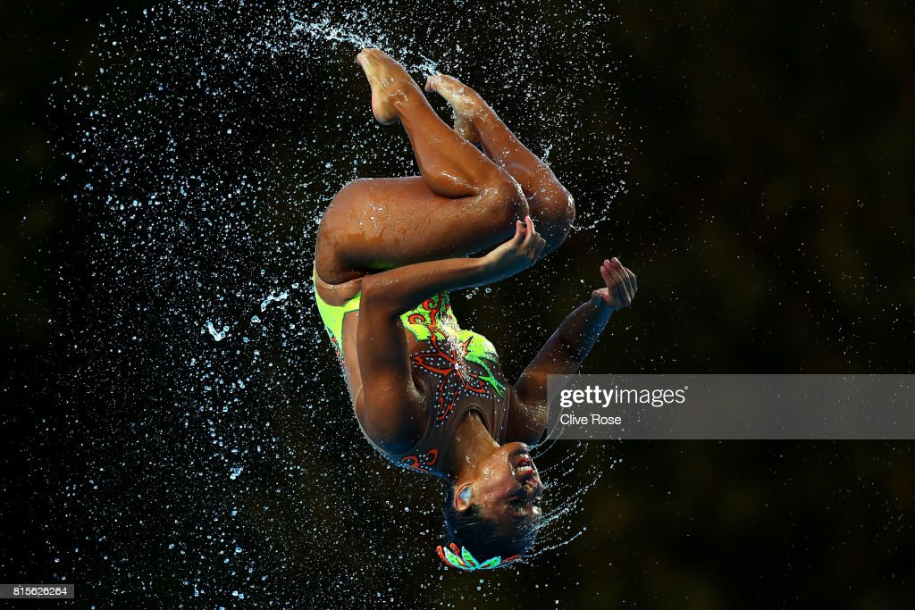 Mexico compete during the Synchronised Swimming Team Technical, preliminary round on day three of the Budapest 2017 FINA World Championships on July 16, 2017 in Budapest, Hungary.