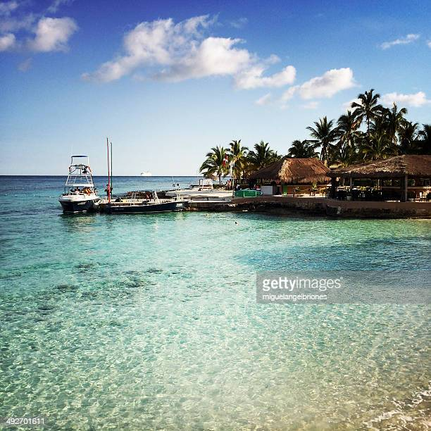 Mexico, Cozumel Island, View of pier