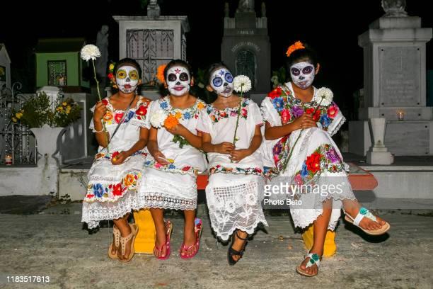 mexico - day of the dead - dia de muertos - catrina - calavera - la catrina stock photos and pictures