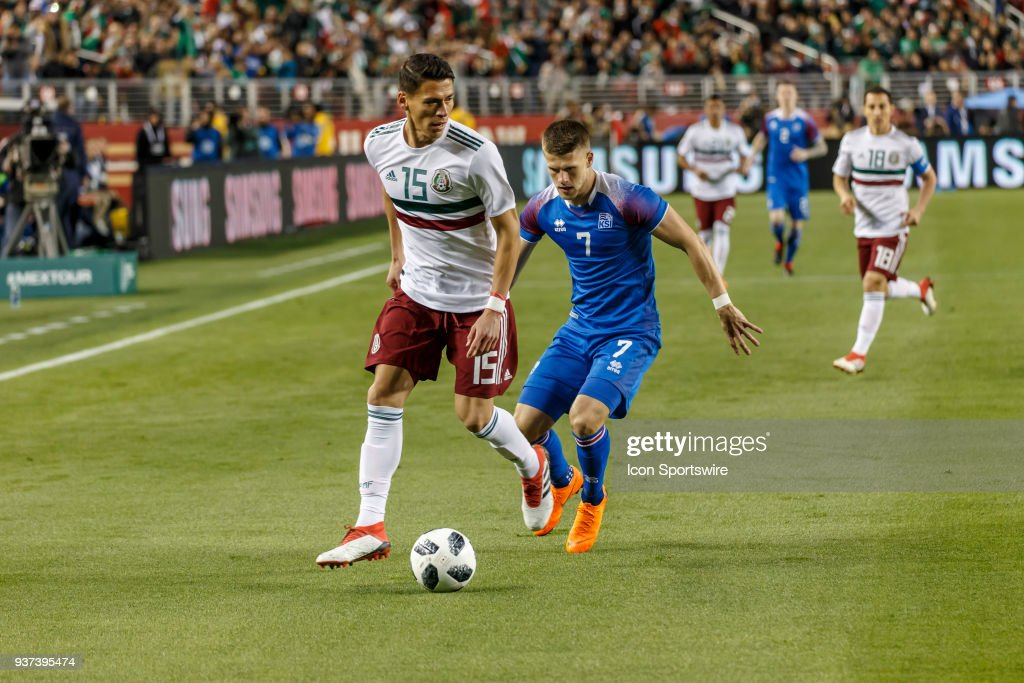 2e3b1b79c Mexico Defender Hector Moreno with the ball as Iceland Midfielder ...