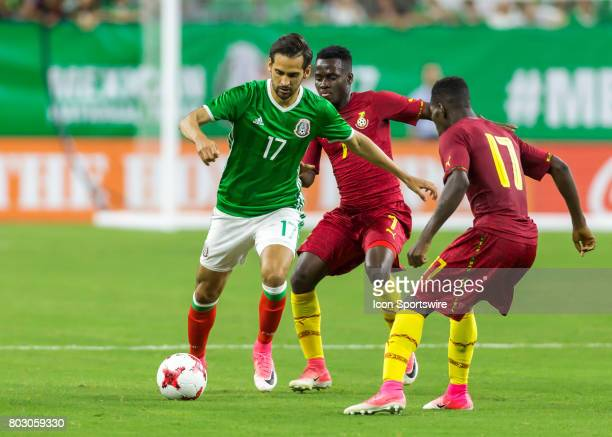 Mexico defender Raúl López and Ghana defender Lumor Agbenyenu fight for ball during the Mexico vs Ghana friendly soccer match at on June 28 2017 at...