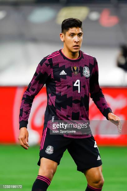 Mexico Edson Alvarez in action during the game between Mexico and Iceland on May 29, 2021 at AT&T Stadium in Arlington, Texas.
