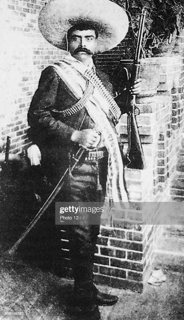 Emiliano Zapata, revolutionary against the Profirio Diaz dictatorship. : News Photo