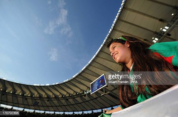 Mexico fan enjoys the atmosphere during the FIFA Confederations Cup Brazil 2013 Group A match between Mexico and Italy at the Maracana Stadium on...