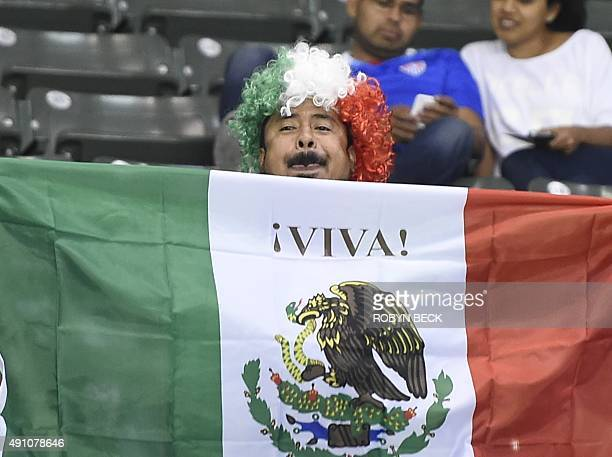A Mexico fan whistles during the Mexico vs Costa Rica CONCACAF Mens Olympic Qualifying Group B Match on October 2 at the Stub Hub Center in Carson...