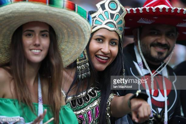Mexico fans are seen during the 2018 FIFA World Cup Russia group F match between Germany and Mexico at Luzhniki Stadium on June 17 2018 in Moscow...