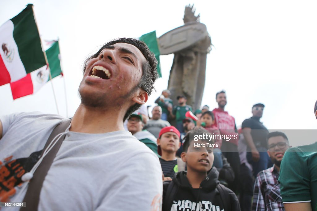 Mexicans Gather To Watch Their National Soccer Team Compete Against South Korea During The World Cup