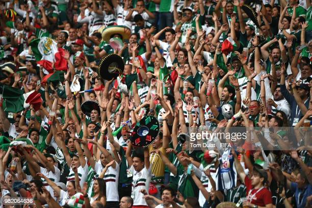 Mexico fans create a Mexican wave during the 2018 FIFA World Cup Russia group F match between Korea Republic and Mexico at Rostov Arena on June 23...