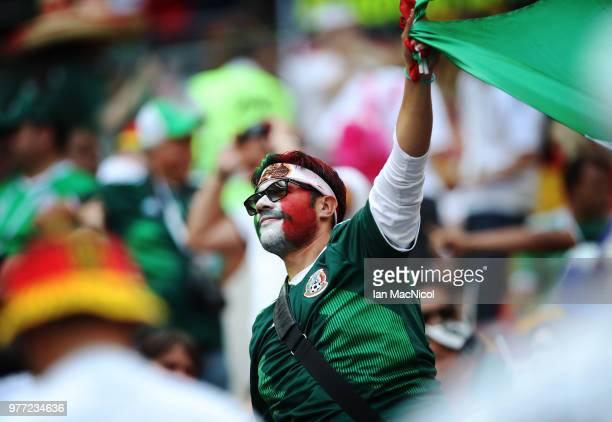 Mexico fans is seen during the 2018 FIFA World Cup Russia group F match between Germany and Mexico at Luzhniki Stadium on June 17 2018 in Moscow...
