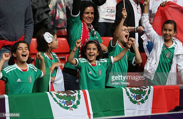 Mexico fans show their support during the Men's Football first round Group B match between Mexico and Switzerland on Day 5 of the London 2012 Olympic...