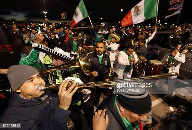 Mexico fans tailgate before the start of a 2018 FIFA World Cup qualifying match between the Mexico men's national team and the US men's national team...