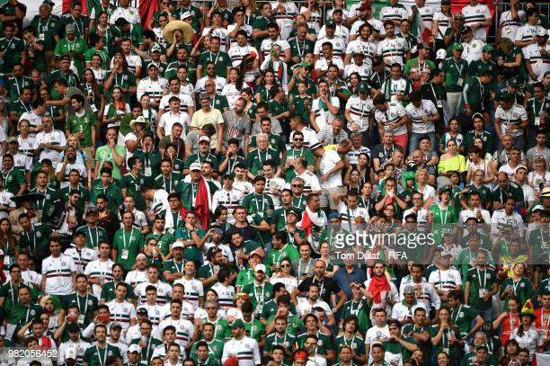 Mexico fans watch the action during the 2018 FIFA World Cup Russia group F match between Korea Republic and Mexico at Rostov Arena on June 23 2018 in...