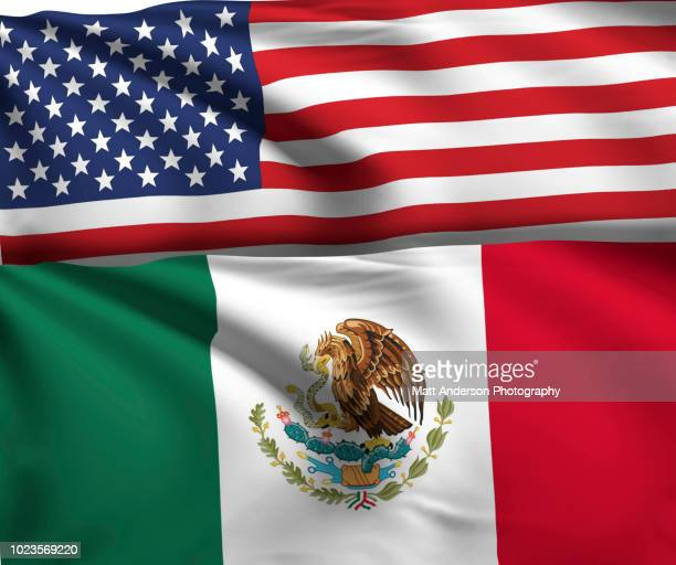 usa mexico flag 8k resolution on white v1 - bandera mexicana fotografías e imágenes de stock