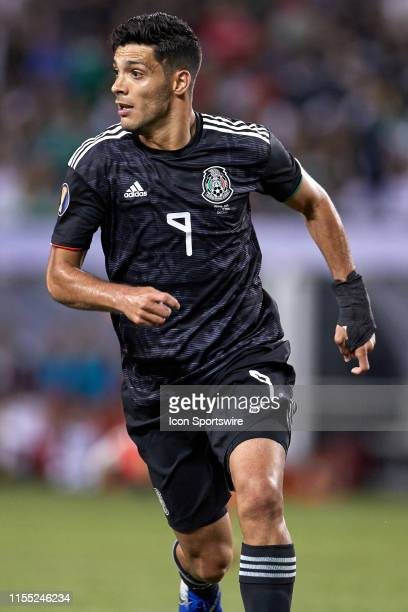 Mexico forward Raul Jimenez looks on during the CONCACAF Gold Cup final match between the United States and Mexico on July 07 at Soldier Field in...