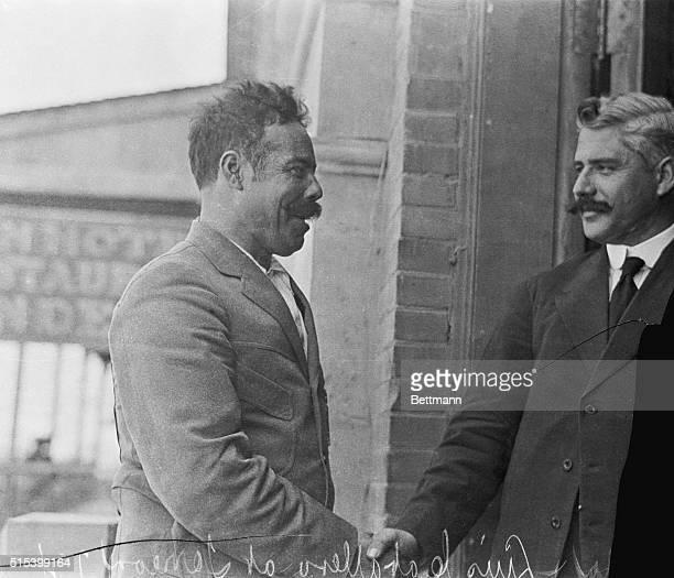 Gen Villa and Luis Caballero at Carranza at the Villa Conference Torreon 7/4/1914