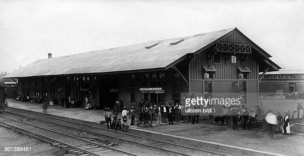 Mexico, Guanajuato, Silao: train station - about 1905