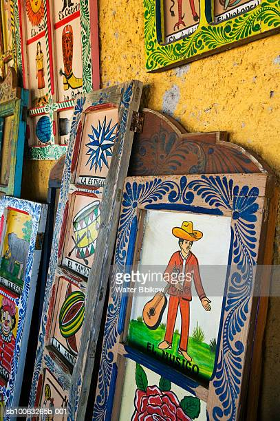 mexico, guanajuato state, rancho viejo art market, folk painting - painting art product stock pictures, royalty-free photos & images