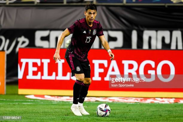 Mexico Hector Moreno in action during the game between Mexico and Iceland on May 29, 2021 at AT&T Stadium in Arlington, Texas.