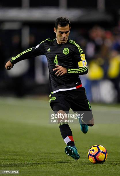 Mexico men's national team defender Rafael Marquez controls the ball against the US men's national team during the 2018 FIFA World Cup qualifying...