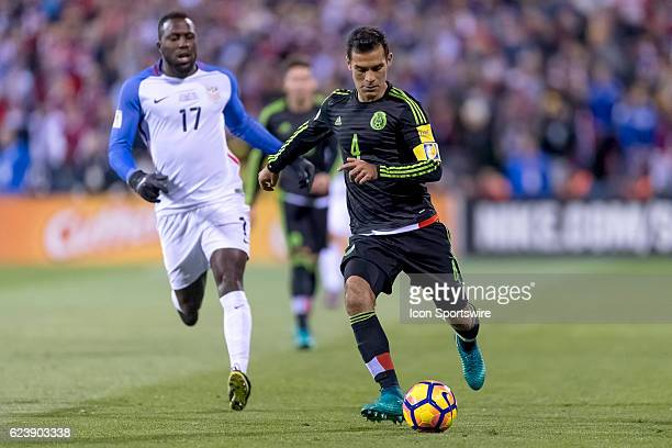 Mexico Men's National Team player Rafael Marquez dribbles the ball in the first half during the FIFA 2018 World Cup Qualifier at MAPFRE Stadium on...