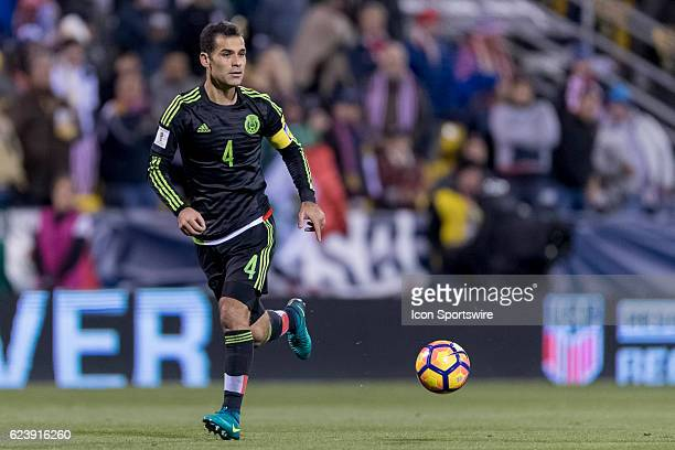 Mexico Men's National Team player Rafael Marquez handles the ball in the first half during the FIFA 2018 World Cup Qualifier at MAPFRE Stadium on...