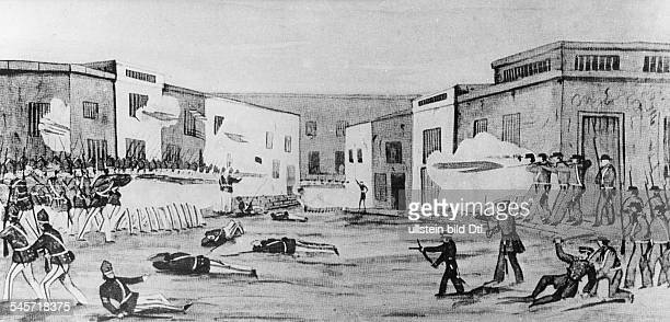 Mexico Mexican-American War Conquest of Guaymas by 70 seamen and soldiers of the navy corps of the sloop 'Dale' under Commander Selfridge. -...