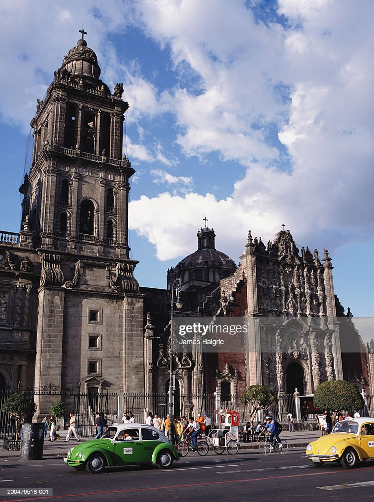 Mexico Mexico City Df Zocalo Metropolitan Cathedral Exterior Stock