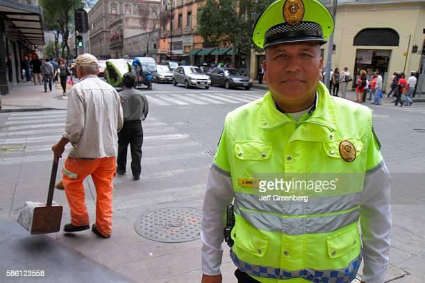 Mexico Mexico City Distrito Federal historic center 5 de Mayo street Public Safety officer