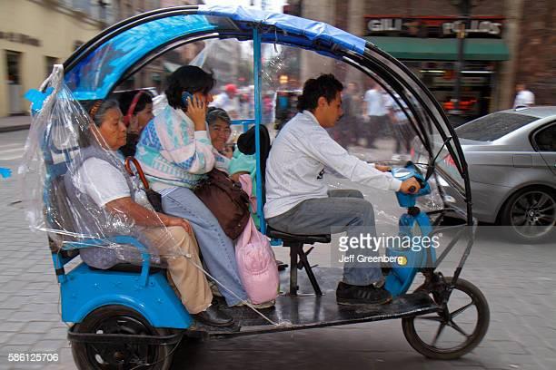 Mexico Mexico City Distrito Federal historic center 5 de Mayo tricycle taxi