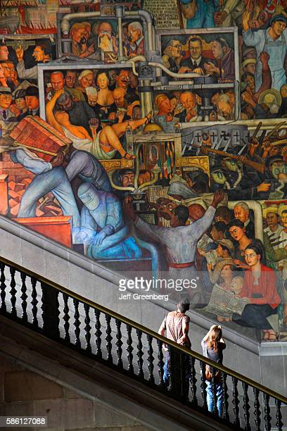 Mexico Mexico City Distrito Federal historic center Zocalo Plaza de la Constitucion National Palace mural