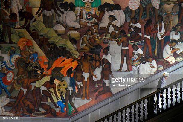 Mexico Mexico City Distrito Federal historic center Zocalo Plaza de la Constitucion National Palace mural