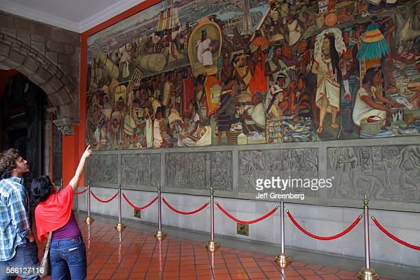 Mexico, Mexico City, Distrito Federal, historic center, Zocalo, Plaza de la Constitucion, National Palace mural.
