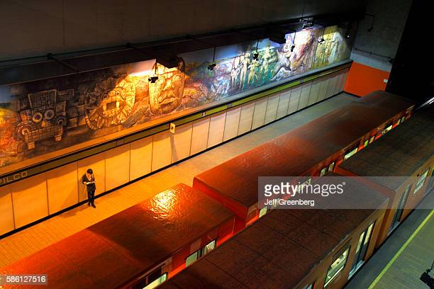 Mexico Mexico City Distrito Federal Metro Copilco Station Line 3 platform