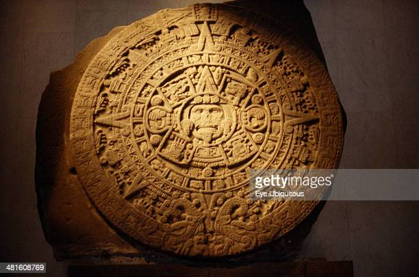 Mexico Mexico City Twenty two ton Aztec calendar stone in the National Anthropological Museum