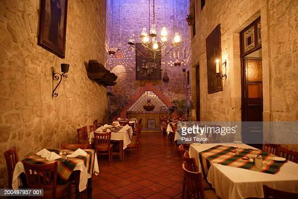Mexico, Michoacan, Morelia, hotel restaurant