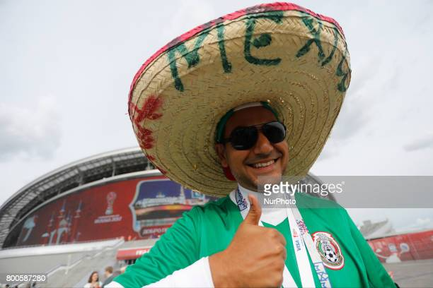Mexico national team supporter before the Group A FIFA Confederations Cup Russia 2017 match between Russia and Mexico at Kazan Arena on June 24 2017...