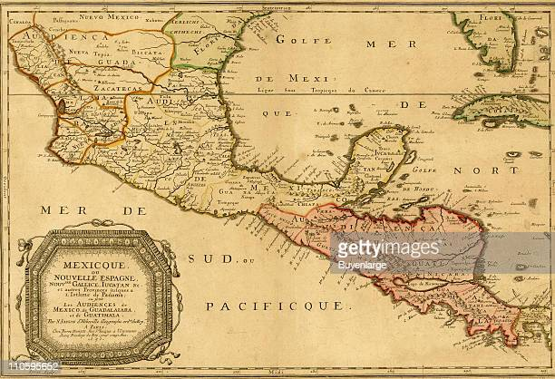 Mexico New Spain 1656 Illustration by Nicolas Sanson