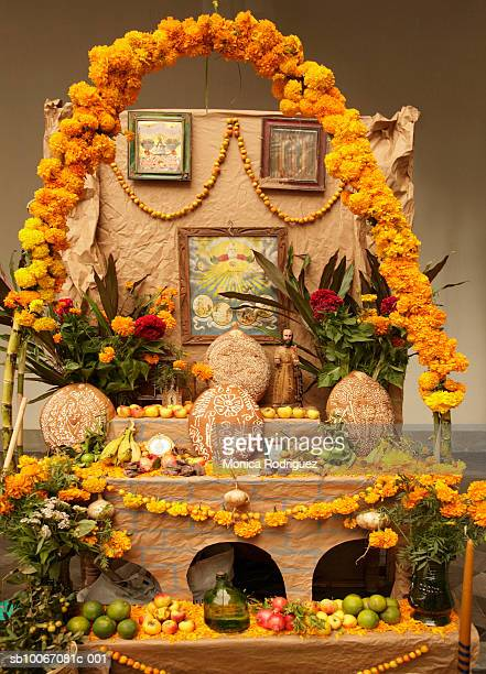 Mexico, Oaxaca, Day Of The Dead altar in honour of various Saints