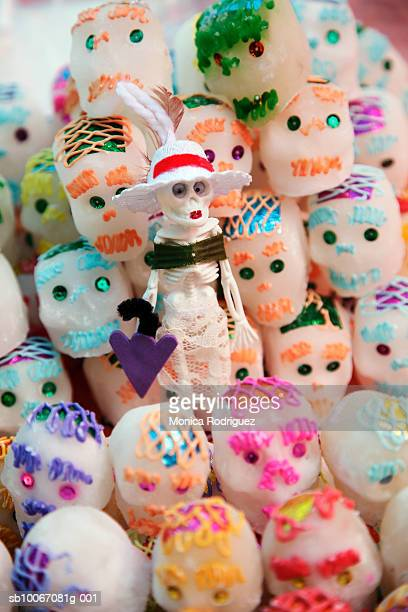Mexico, Oaxaca, Day Of The Dead sugar skulls candy, close-up