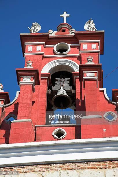 Mexico Oaxaca State Oaxaca Bell tower Iglesia de San Juan de Dios near the Zocalo
