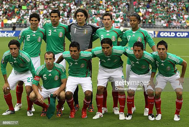 Mexico poses for a team photo before the 2009 CONCACAF Gold Cup competition at University of Phoenix Stadium on July 12 2009 in Glendale Arizona...