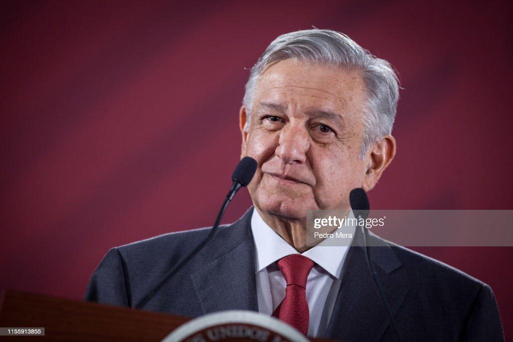 President Lopez Obrador Daily Morning Press Briefing : News Photo