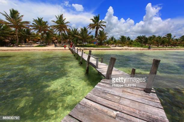 Mexico, Quintana Roo. Costa Maya. Mahahual. Beach.