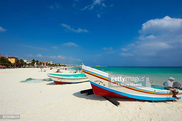 mexico, quintana roo state, playa del carmen beach - playa del carmen stock pictures, royalty-free photos & images