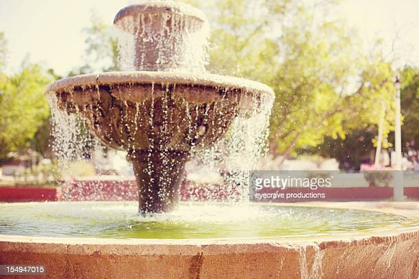 mexico resort courtyard fountain - eyecrave stock pictures, royalty-free photos & images