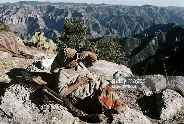 Mexico - Sierra Madre, Tarahumara Indian woman.
