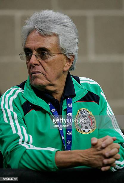 Mexico soccer federation president Justino Compean attends the 2009 CONCACAF Gold Cup match between Mexico and Panama at the Reliant Stadium on July...