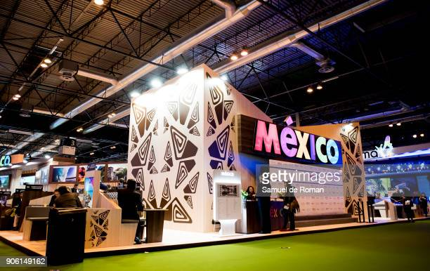 Mexico stand at FITUR International Tourism Fair 2018 at Ifema on January 17 2018 in Madrid Spain Prime Minister Mariano Rajoy confirmed that Spain...