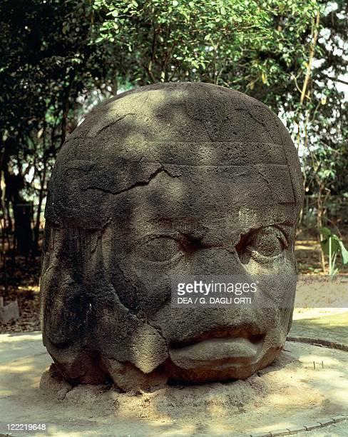 Mexico Tabasco La Venta archaeological site of preColumbian Olmec civilization Colossal head 9th4th century bC