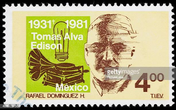 Mexico Thomas Edison postage stamp